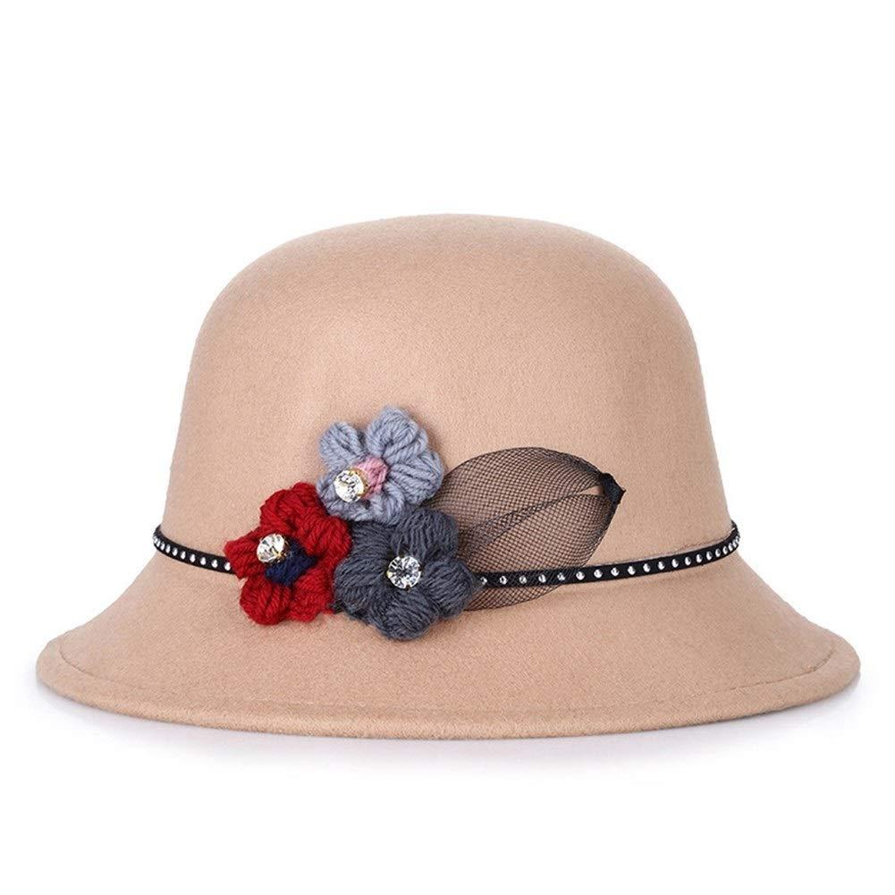 YEXIANG Sombrero for Damas otoño e Invierno versión Coreana de los ...