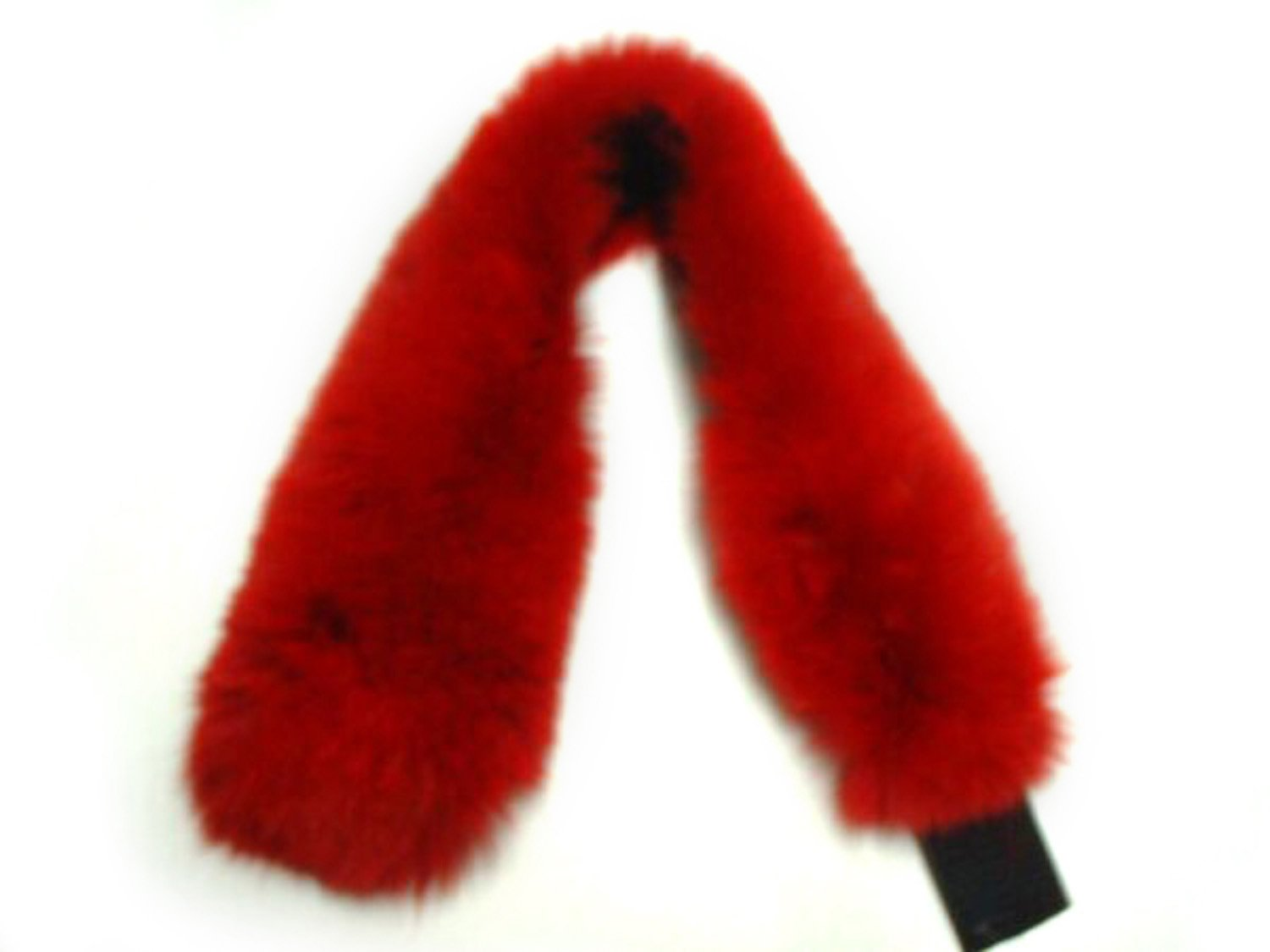 4 inches Dyed Red Fox Headband