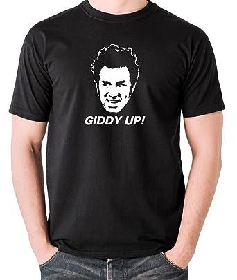 aa82c465 Amazon.com: Seinfeld - Kramer, Giddy Up! T Shirt: Clothing
