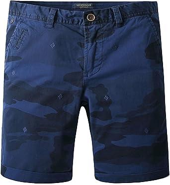 TALLA S. JINSHI Pantalones Cortos de Algodón para Hombre