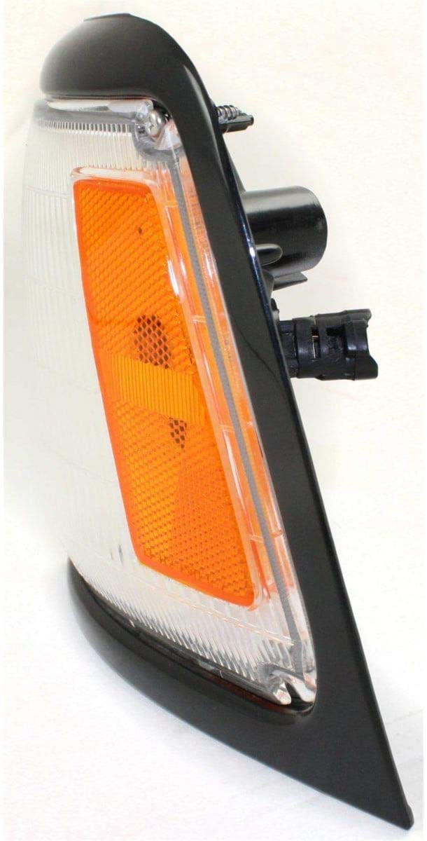 Corner Light For 89-91 Toyota Pickup w// black trim Driver Incandescent w// Bulb