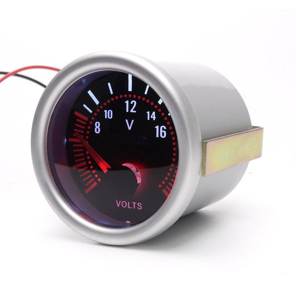 Royalr ABS Humo Blanco 52 mm volt/ímetro Lente volt/ímetro Universal de 8-16V Contador LED 12 V Coche