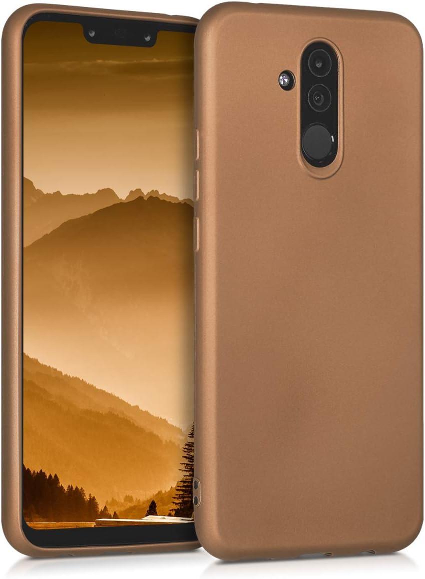 Housse t/él/éphone Silicone Vert Clair m/étallique Coque pour Huawei Mate 20 Lite kwmobile Coque Huawei Mate 20 Lite