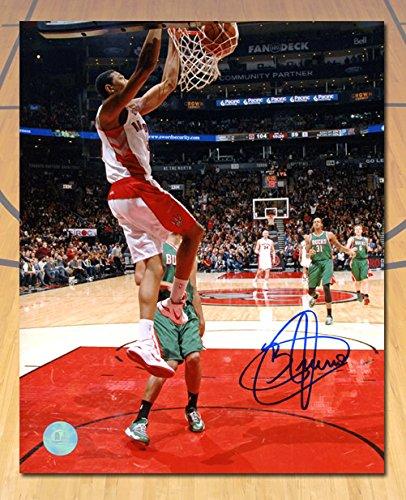 Bruno Caboclo Toronto Raptors Autographed First Career Basket 8x10 Photo