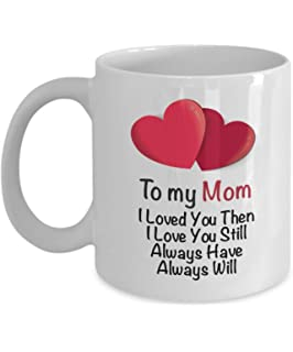 i love my mom coffee mug mommy gift ideas from son daughter husband for her - Christmas Ideas For My Wife