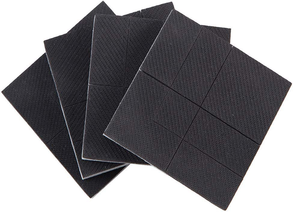 """Non Slip Rubber Pad,4 Pcs 4"""" Furniture Grippers Self Adhesive Self Adhesive Rubber Pads,Non Skid Furniture Pad Hardwood Floor Protectors for Fix in Place Furniture"""