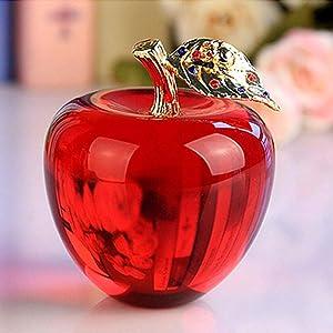 HKDHI Collectible Figurines 80MM Crystal Apple Wedding Crystal Ball Craft