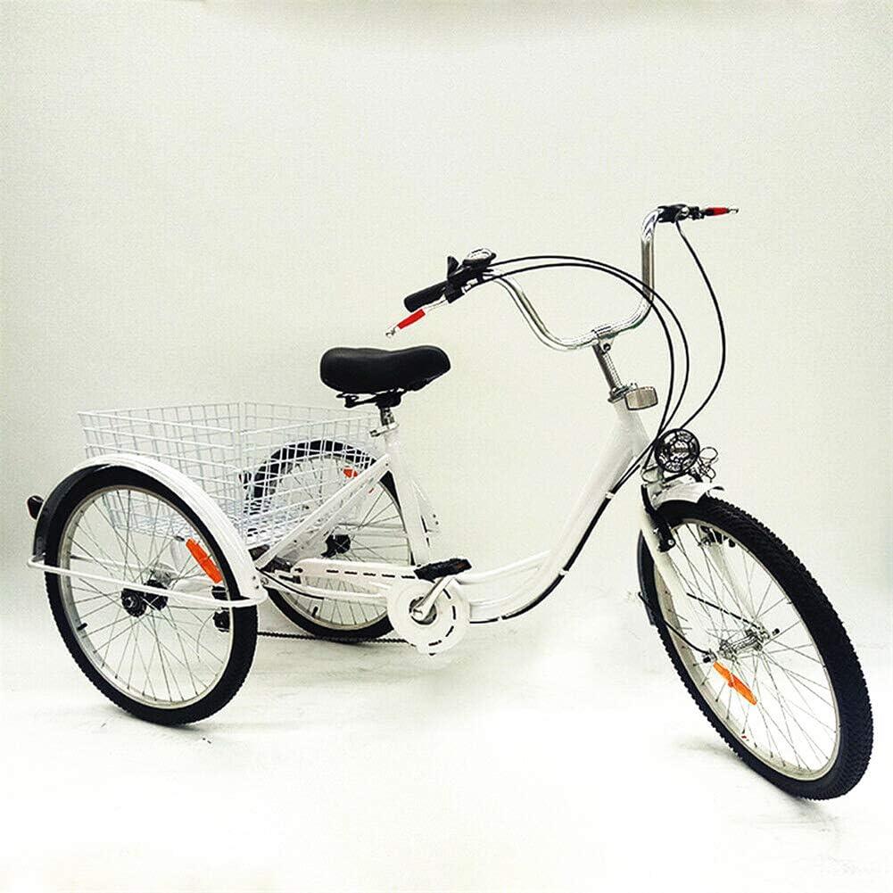 Kaibrite Dreirad Erwachsene 24 Erwachsenendreirad 6 G/änge Dreirad Tricycle Shopping Bike f/ür Erwachsene Senioren mit Licht Warenkorb Korb