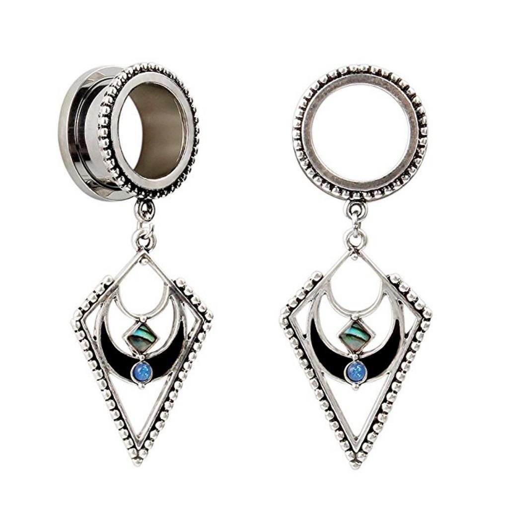 Bigbabybig Ear Plugs Tunnels 5/8 Gauges Earrings Women Body Piercing Jewelry Stainless Steel Screw