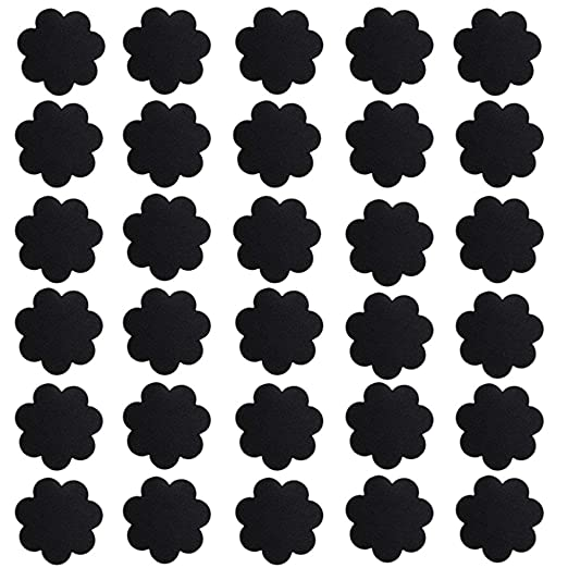 46d635e3dd8b6 liansheng Disposable Nipple Covers Self Adhesive Bra Gel Petals Pad Pasties  (Black)