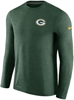 huge selection of 89f9a 4cac3 Men s Green Bay Packers Nike Green Coaches Long Sleeve Performance T-Shirt