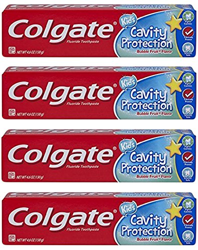 Colgate Kids Cavity Protection Bubble Fruit Fluoride Toothpaste 4.6oz - Pack of ()