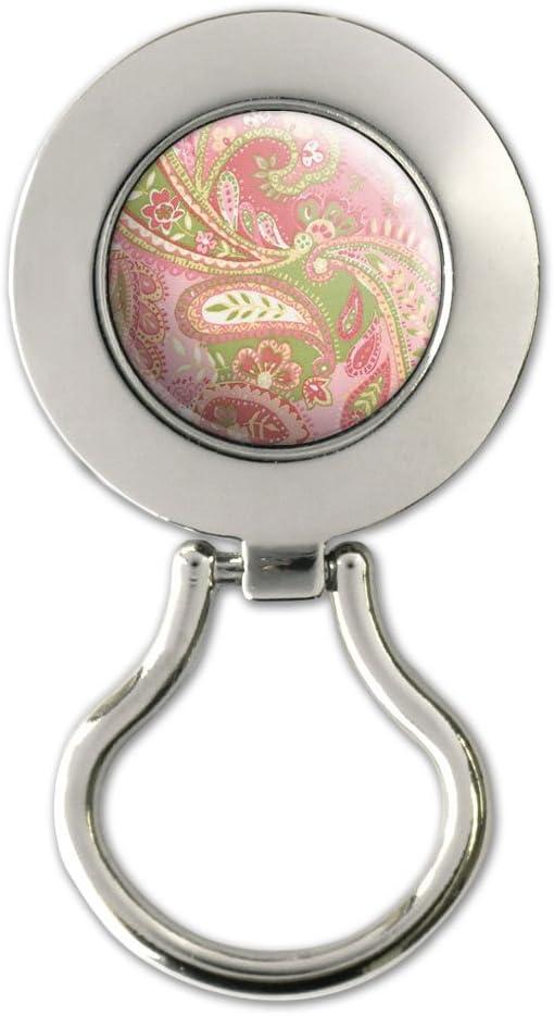 Graphics and Morestampa cashmere colore rosa e verde per occhiali in metallo per Badge magnetico