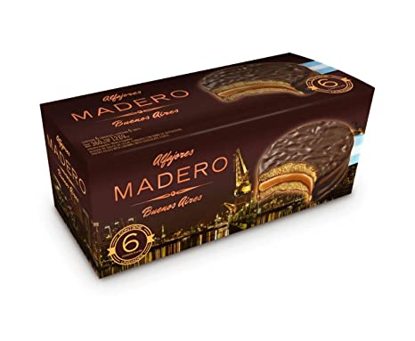 Amazon.com: Chocolate Covered Classic Alfajores (Chocolate covered Dulce de leche, 6 Units)