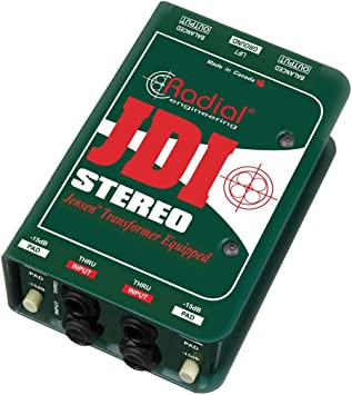 Radial JDI Stereo - Jensen Equipped 2-Channel Passive Instrument Direct Box