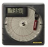 """Dickson SL4350 Temperature Chart Recorder with Digital Display, 4""""/101mm Chart, 7-Day or 24-Hour Rotation, -22 to 122F Range"""