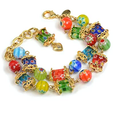 detail view glass product colorful larger beads design bracelets bangle steel image stainless new bracelet