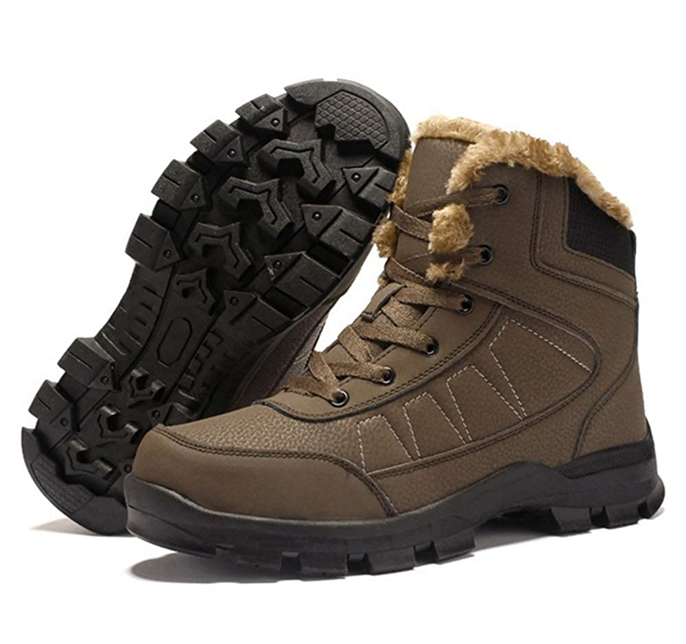 Zarachielly Mens Snow Boots//Ankle Boots//Winter Boots//Hiking Boots//Outdoor Boots Sneakers