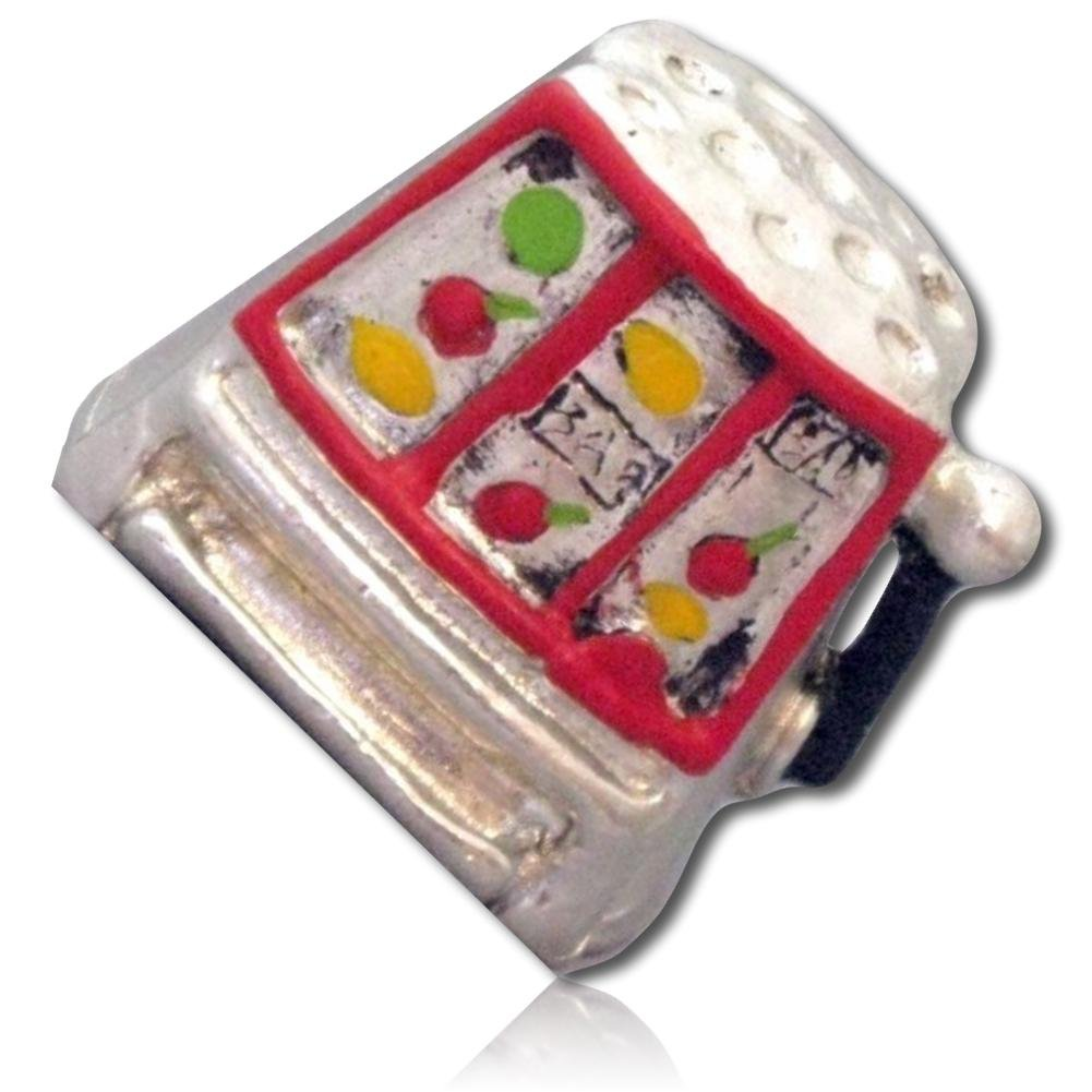 Custom /& Collectible {25mm Hgt Mid-Size Sewing Thimble Made of Fine-Grade Pewter Metal w//Las Vegas Nevada Casino Black Jack Poker Lottery Slot Machine Game Design {Multicolor} x 19mm Dia.} 1 Single