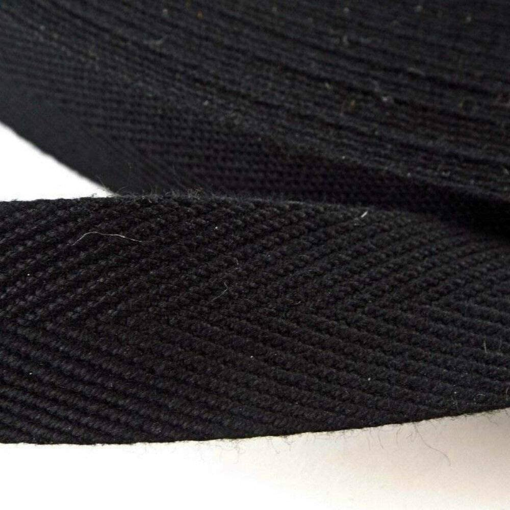 Delantal de mezcla de algodón negro con cinta de sarga de 25 mm de ancho y 10 metros: Amazon.es: Bricolaje y herramientas