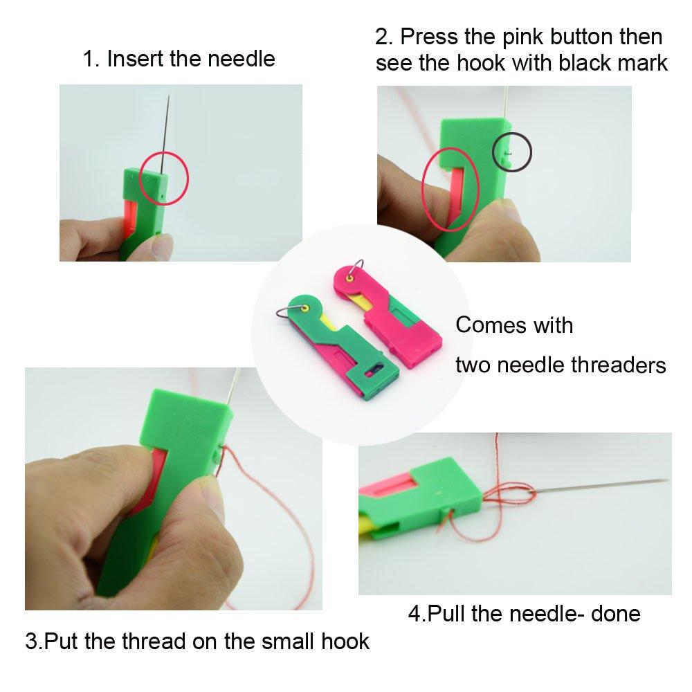 Juego de hilo de coser con aguja para principiantes 39 colores Mini kit de costura para paquete de viaje de 79 piezas: Amazon.es: Hogar