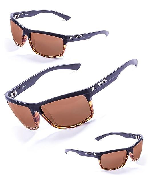 Ocean Sunglasses John - gafas de sol - Montura : Negro Mate/Rojo - Lentes : Azul  Espejo (20000.2): Amazon.es: Deportes y aire libre