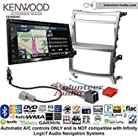 Volunteer Audio Kenwood Excelon DNX694S Double Din Radio Install Kit with GPS Navigation System Android Auto Apple CarPlay Fits 2007-2012 Hyundai Veracruz (Automatic A/C controls)