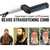 Beard Straightener,Electric Hair Comb For Men,Curly Hair Straightening Comb,Man's Style Magic Massage Comb,Hair Straightening,Curler Permed Clip Comb For DIY, PTC instant heater heats up in 15 seconds