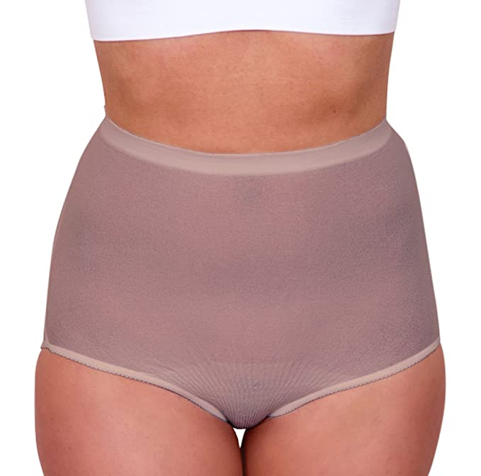 b93a4cfe3d5f4 Amazon.com: Body Force Women's High-Waist Brief Underwear (3-pack) Size  15-18 Beige: Clothing