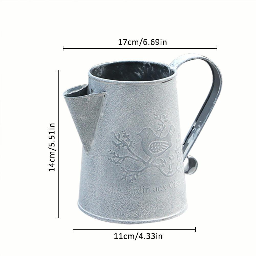 vaso di fiori giardino metallo annaffiatoio bollitore retro vintage ferro vaso annaffiatoi per giardinaggio o composizioni floreali Househome ferro vaso di fiori B