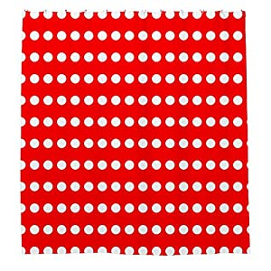 Angelly Red And White Polka Dot Shower Curtain