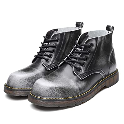 b6d69b3d4079fb Outdoor Leather Martin Boots Vintage Boots Large Size Boots Walking Shoes  Boots (Grey-Lable