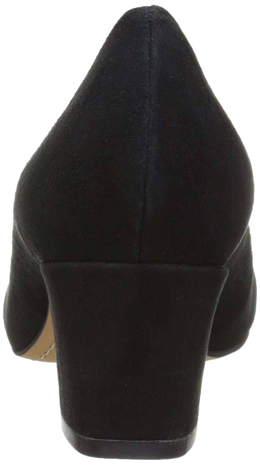 206 Collective Women's Merritt Round Toe Block Heel Low Pump, Black Suede, 7.5 B US by 206 Collective (Image #2)