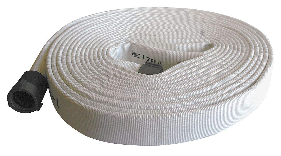 Armored Textiles Supply Line Fire Hose, Double Jacket, 3'' Hose Inside Dia, 50 ft, White - G51H3LNW50N