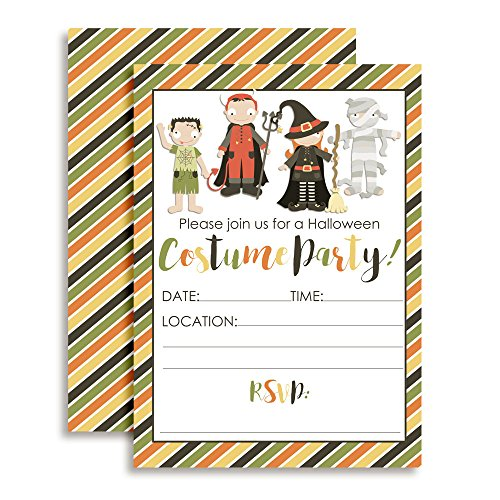 Halloween Costume Party Invitations, 20 5