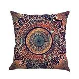"Goddessvan Bohemia Geometry Painting Flax Cushion Cover Throw Pillow Case Sofa Home Decor 1818'' Inch (45cm45cm/1818"", E)"