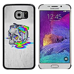 Be Good Phone Accessory // Dura Cáscara cubierta Protectora Caso Carcasa Funda de Protección para Samsung Galaxy S6 EDGE SM-G925 // Paint Colors Lsd Drugs Skull Deep Acid