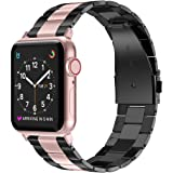 Wearlizer Stainless Steel Compatible with Apple Watch Band 38mm 42mm Women Men,Ultra-Thin Lightweight Replacement Band Strap