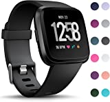 HUMENN Compatible for Fitbit Versa Strap/Fitbit Versa Lite Strap, Classic Adjustable Replacement Sport Wristband for Fitbit Versa/Fitbit Versa Lite Edition, Large Small