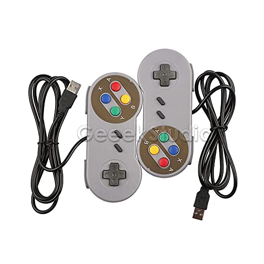 Amazon Com Fidgetfidget Super Snes Usb Controller Game Pad For Pc