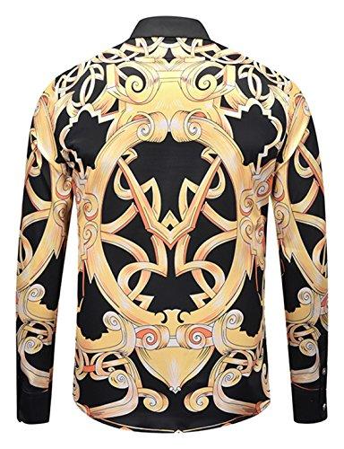 Y1792 Pizoff Stampata Uomo Maniche Stile Elegante g6 Lunghe A Camicia Barocco 1fZxwqnSzf