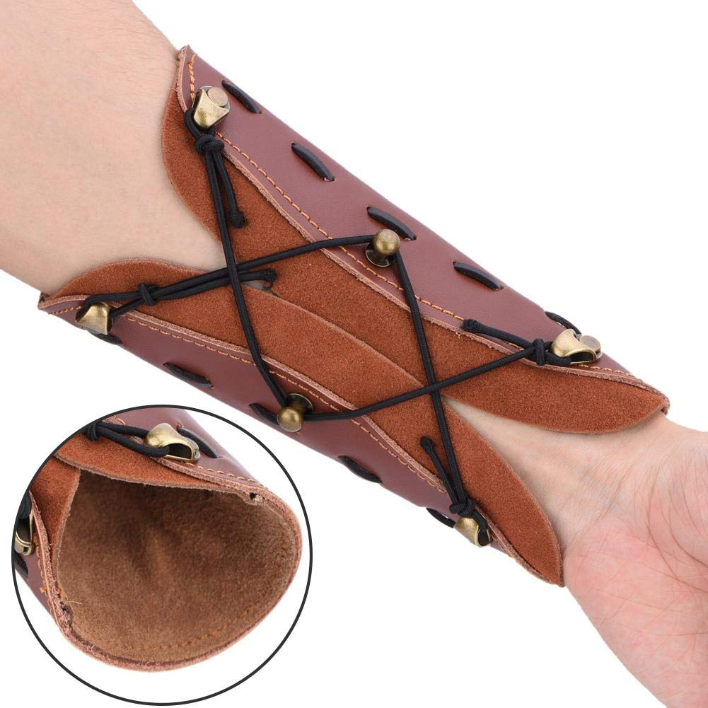 Shooting Leather Archery Arm Guard Adjustable to Fit Most Size Arms,Suitable for Children and Adolescent Asixx Arm Guard