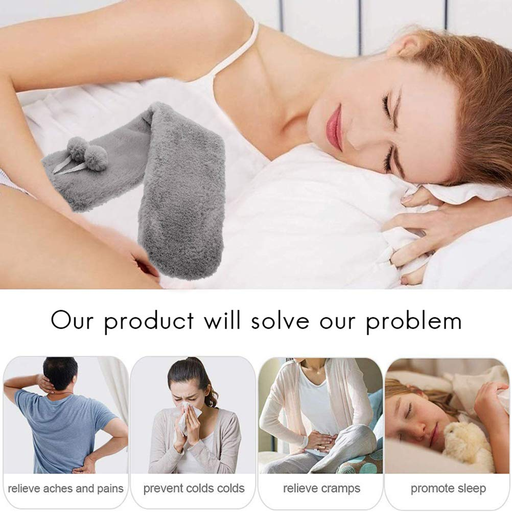 24X54X3.4inch Kappha Soft-Covered Long Hot Water Bottle Removable and Washable Hot Water Bottle for Abdomen Back and Neck