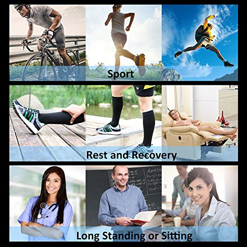 Compression Socks, Open Toe, Medical 20-30 mmHg Graduated Compression Stockings for Men Women, Knee High Compression Sleeves for Pregnancy, Varicose Veins, Relief Shin Splints, Nursing, Edema, Sports by MGANG (Image #4)