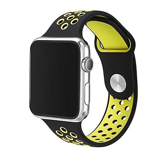 9 opinioni per LEEHUR- Apple Watch 42mm Cinturino Morbido Braccialetto di Ricambio in Silicone