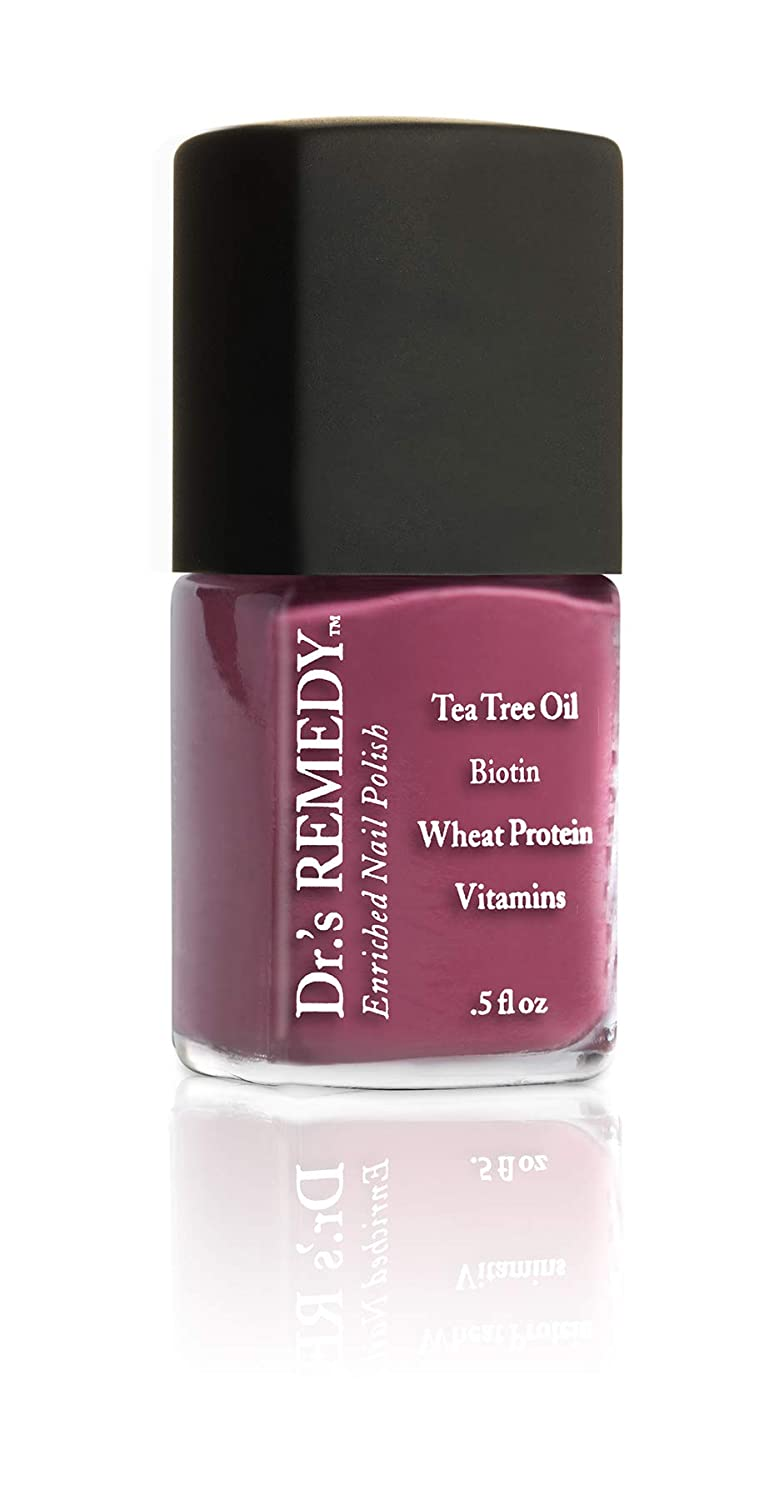 Dr.'s Remedy Enriched Nail Polish, Brave Berry, 0.5 Fluid Ounce (Brave Berry)