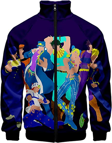 Anime JoJo/'s Bizarre Adventure Clothing Sweatshirt Fashion Hoodie Coat