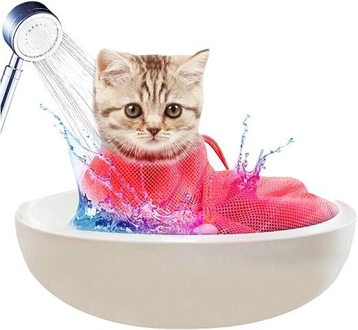 Diealles Shine Bolsa de Aseo para Gatos, Ajustable Bolsa de Baño Gato para Ducha, Limpieza de Orejas, Corte de Unas, Alimentacion de Medicamentos: Amazon.es: Productos para mascotas