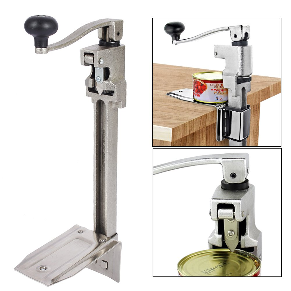 Commercial Can Opener,18.5'' Manual Can Opener Heavy Duty Stainless Iron Table Mount Can Opener for Commercial Kitchen Restaurant Use by Estink