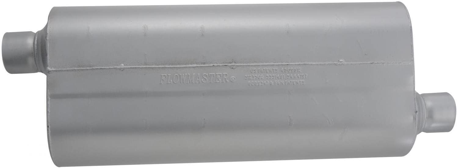 2.50 Offset OUT 2.50 Center IN Mild Sound Flowmaster 52572 70 Series Muffler